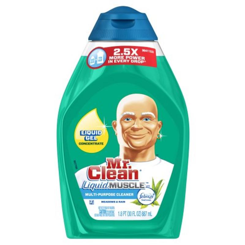 Mr. Clean Liquid Muscle All Purpose Surface Cleaner Meadows & Rain 30 Fluid Ounce