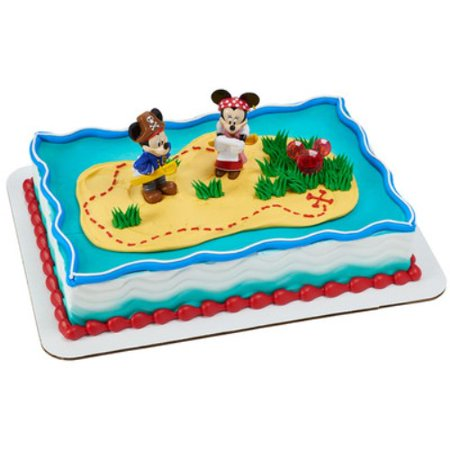 Mickey Mouse Amp Minnie Pirates Cake Topper Walmart Com