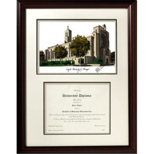 Campus Images IL970V Loyola University Chicago Scholar Diploma Framed Lithograph