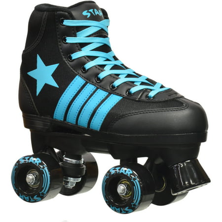 Epic Youth Star Hydra Black and Blue Quad Roller Skates