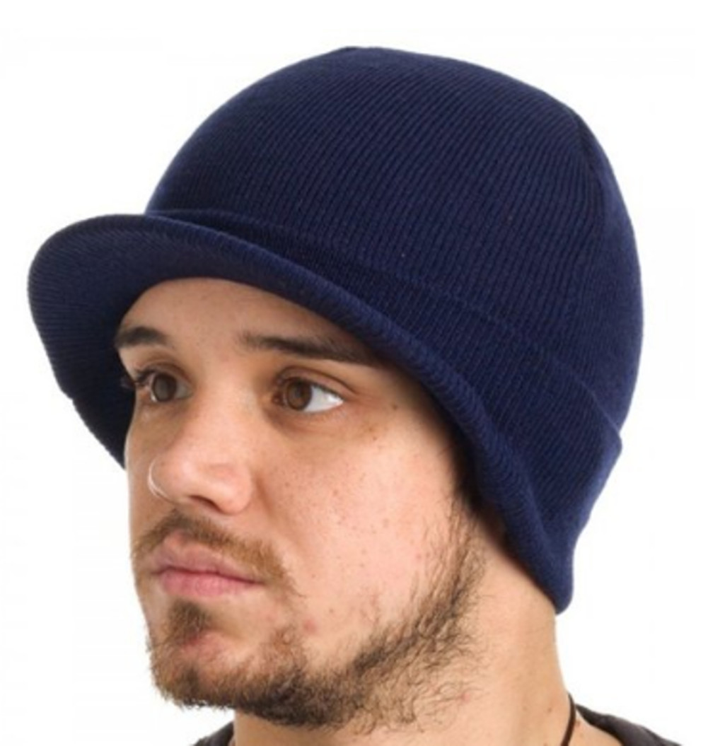 9a8218f19e2 Dickies Core 874 Navy Billed Knit Beanie Hat with Visor Cap Accessory -  Walmart.com