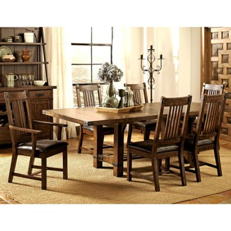 Rimon Solid Wood Mission Style Rustic Dining Set 1135 Product Photo