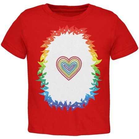 Halloween Rainbow Heart Unicorn Costume Pony Toddler T Shirt