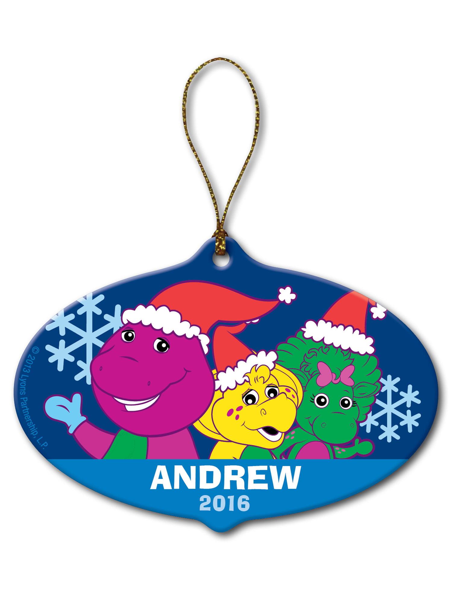Personalized Barney & Friends Snowflake Christmas Ornament - Walmart.com