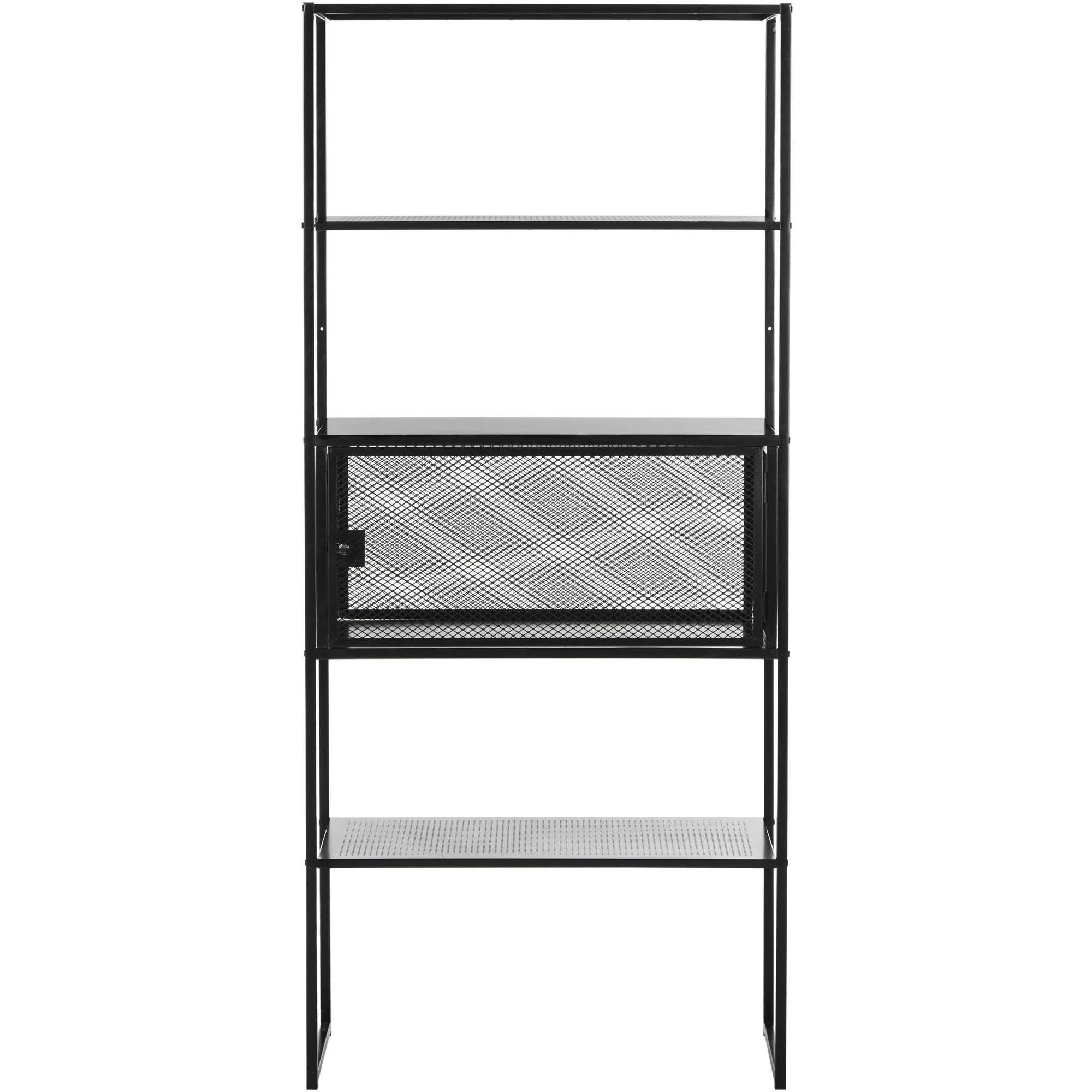 "Safavieh Abay 70"" Storage Bookshelf, Black by Safavieh"