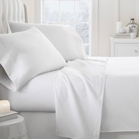 - 800 Thread Count Premium Ultra Soft Solid Flannel Sheet Set by Noble Linens