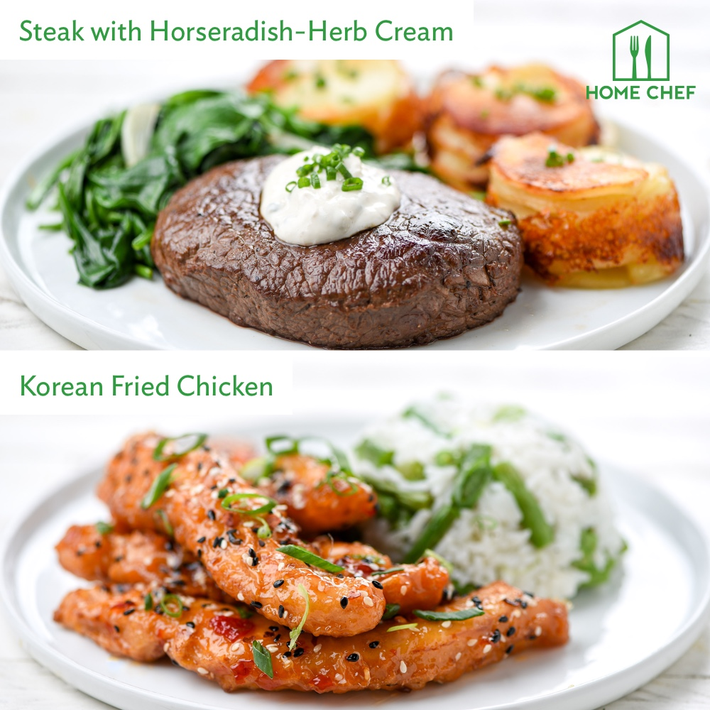 Home Chef Meal Kits, Family Farmhouse Dinner for 4. 2 Meals