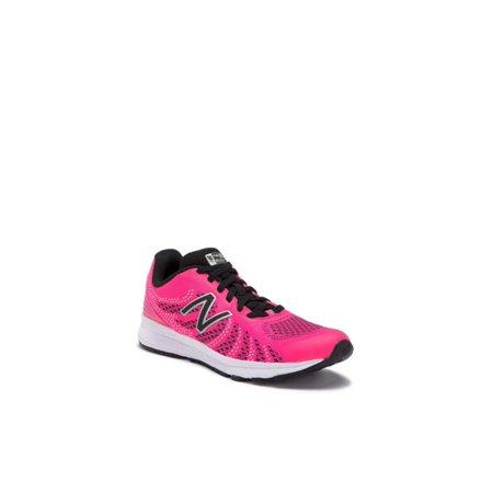 1560df974bb4d new balance girls' rush v3 road running shoe, pink/black, 1 wide us little  kid