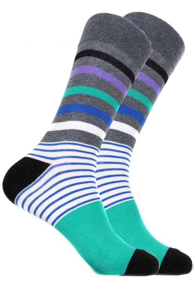 Mens Designer Stripe Cotton Socks
