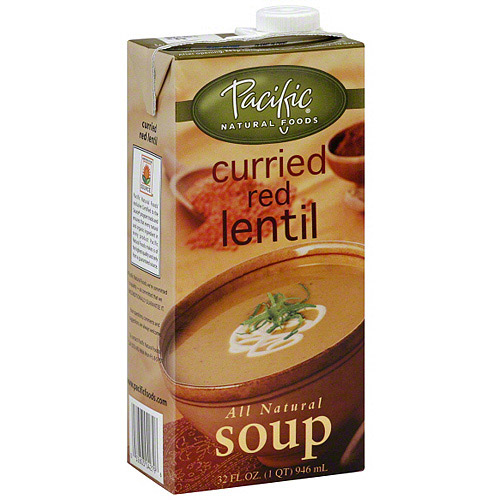 Pacific Natural Foods Natural Curried Red Lentil Soup, 32 oz (Pack of 12)