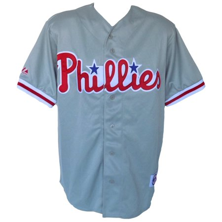 Philadelphia Phillies Majestic Replica Gray Jersey Size Large