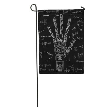 SIDONKU The Drawing Model of Robot Arm Robotics Ideas Artificial Intelligence Bionic Prostheses Science Garden Flag Decorative Flag House Banner 28x40 inch ()