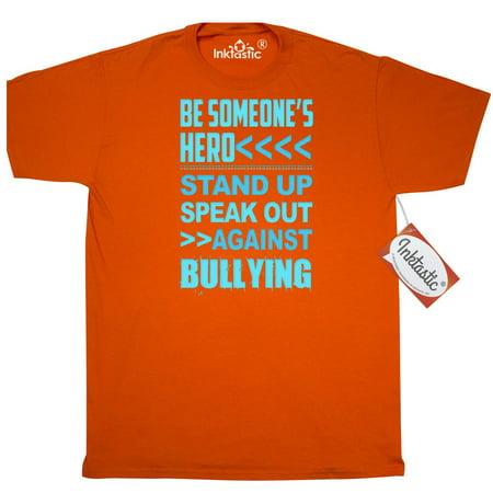 Inktastic Be Someone's Hero No Bullying T-Shirt Bully Awareness Anti Project Mens Adult Clothing Apparel Tees T-shirts (Anti Cyber Bullying)