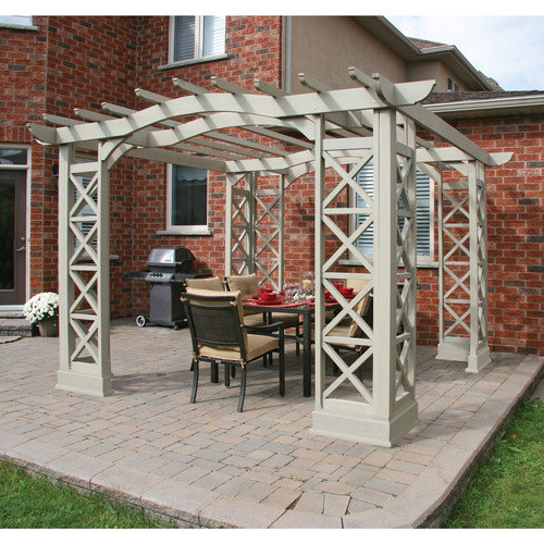 Yardistry Yardistry Arched Roof 8 Ft. H x 14 Ft. W x 12 Ft. D Pergola Kit