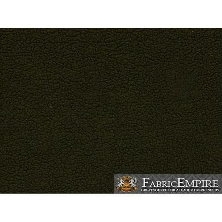 "Heavy Duty SHERPA SHEEP SKIN Black Faux Fur fabric / 60"" Wide / Sold by the yard"