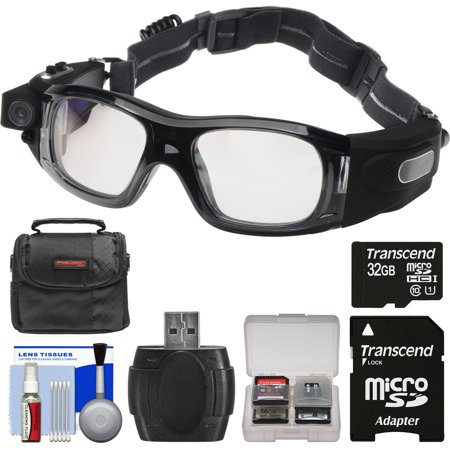 Coleman VisionHD G5HD-SPORT 1080p HD Action Video Camera Camcorder Waterproof POV Sports Safety Goggles with 32GB Card + Case + Reader +