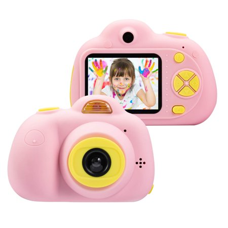 Kids Toys Camera for 3-6 Year Old Girls Boys, Compact Cameras for Children, Best Gift for 5-10 Year Old Boy Girl 8MP HD Video Camera Creative Gifts, Pink(16GB Memory Card Included), (Best Camera For 5 Year Old)