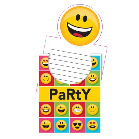 Print Your Own Invitations (Show Your Emojions Invitations, 24)