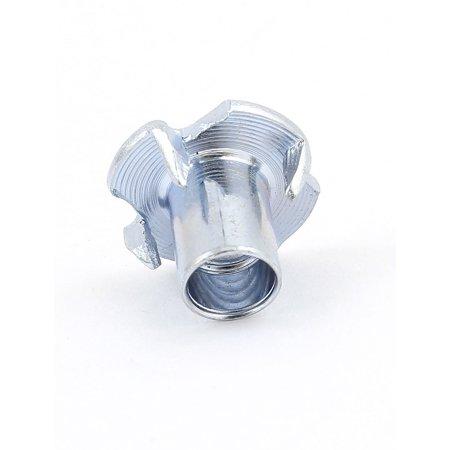 """50Pcs 4 Prongs Zinc Plated T-Nut Tee Nut 1/4""""-20 x 15/32"""" Half Thread - image 2 of 3"""