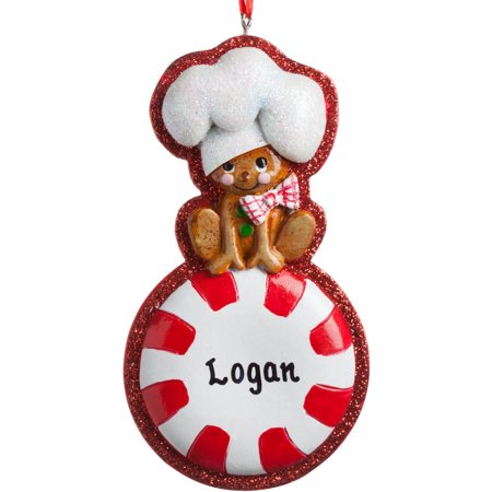 personalized christmas ornament peppermint candy chef - Peppermint Candy Christmas Ornaments