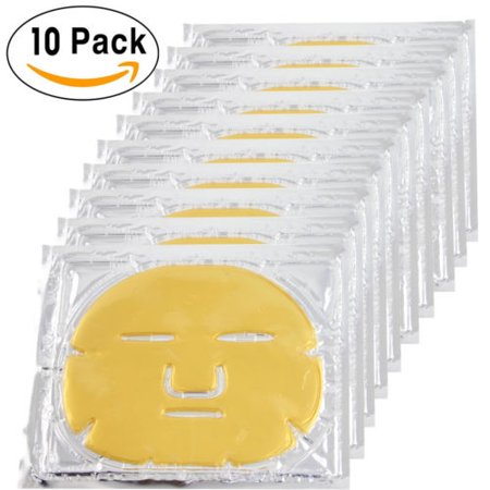 10x  Bio-Collagen Facial Mask Elastin Anti Aging Tighten Skin Hydrating  Gold