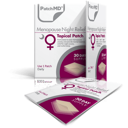Menopause Night Relief Topical Patch  30 Day Supply  By Patchmd