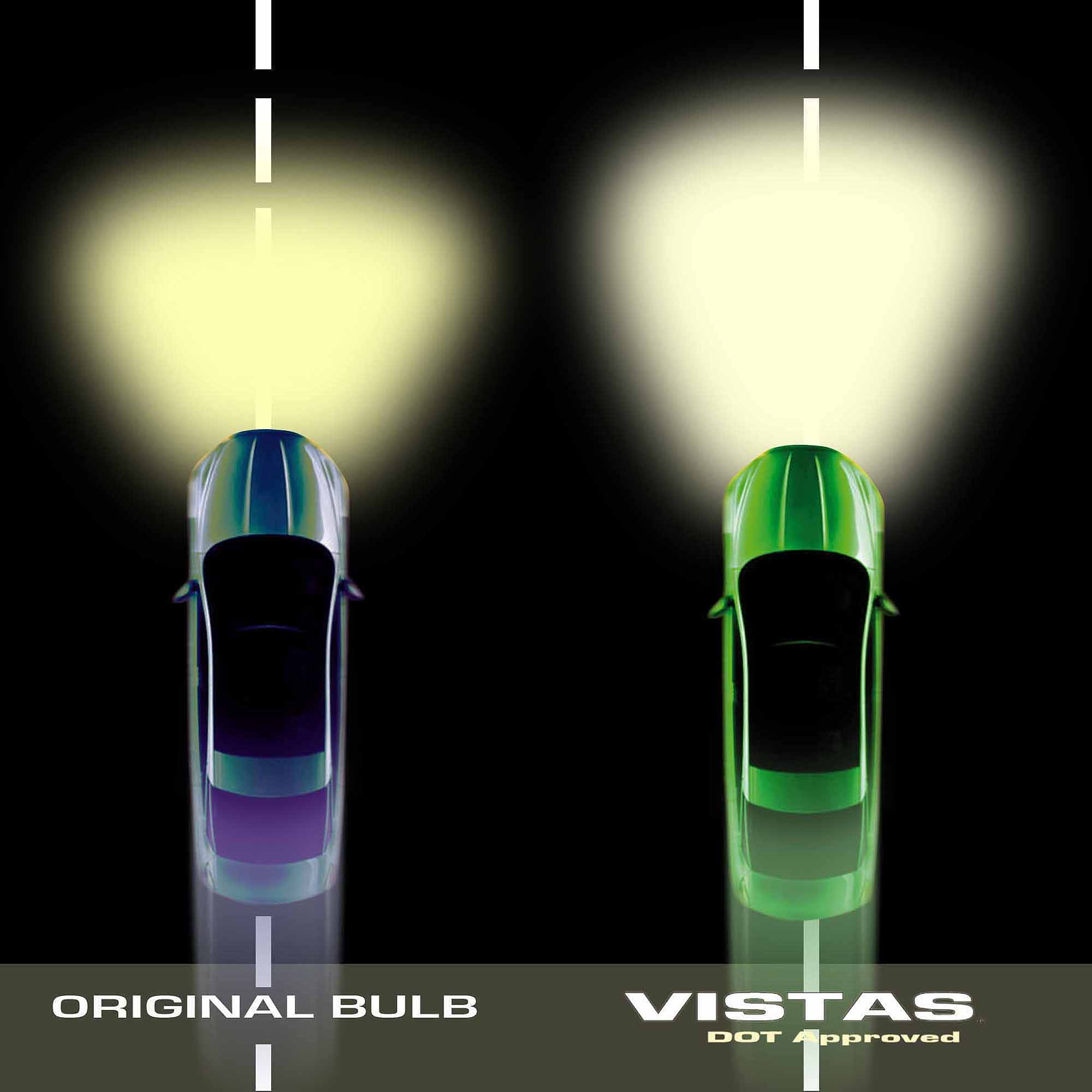 CIPA Vistas DOT Approved 9006 Halogen Headlight Bulbs