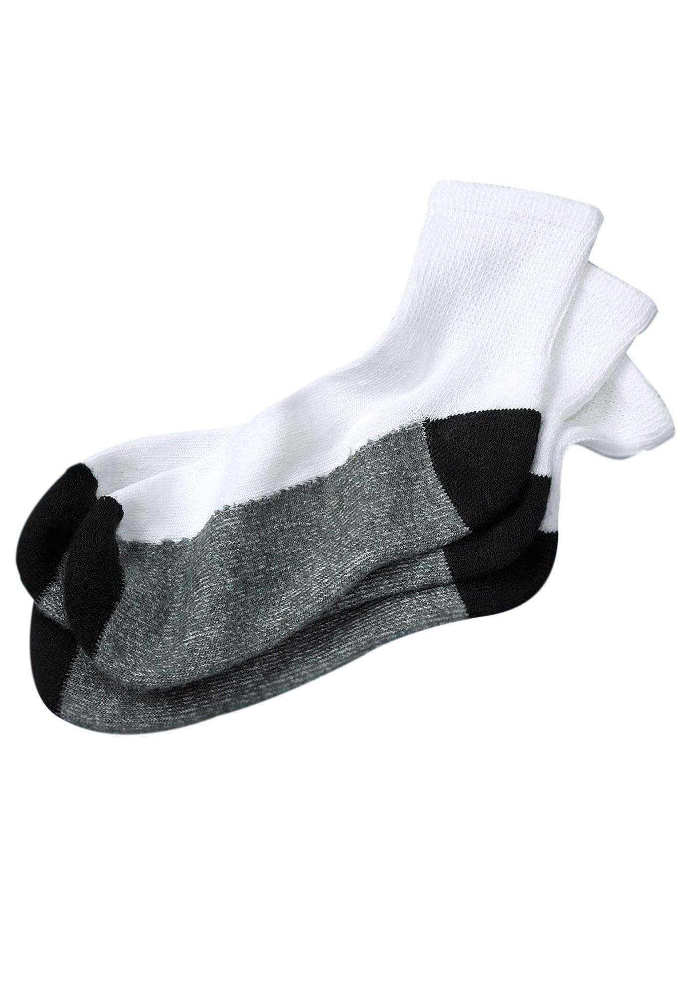Men's Big & Tall 3-pack 1/4 Length Cushioned Crew Socks