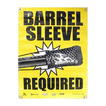 New Paintball Field Safety Poster - Barrel Sleeve Required
