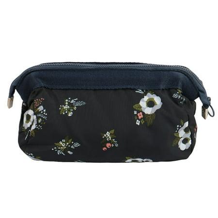 Unique Bargains Women Travel Cosmetic Makeup Bag Handbag Pouch Pencil Holder