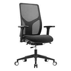 WorkPro 4000 Series Mesh/Fabric High-Back Multifunction Chair (Black)