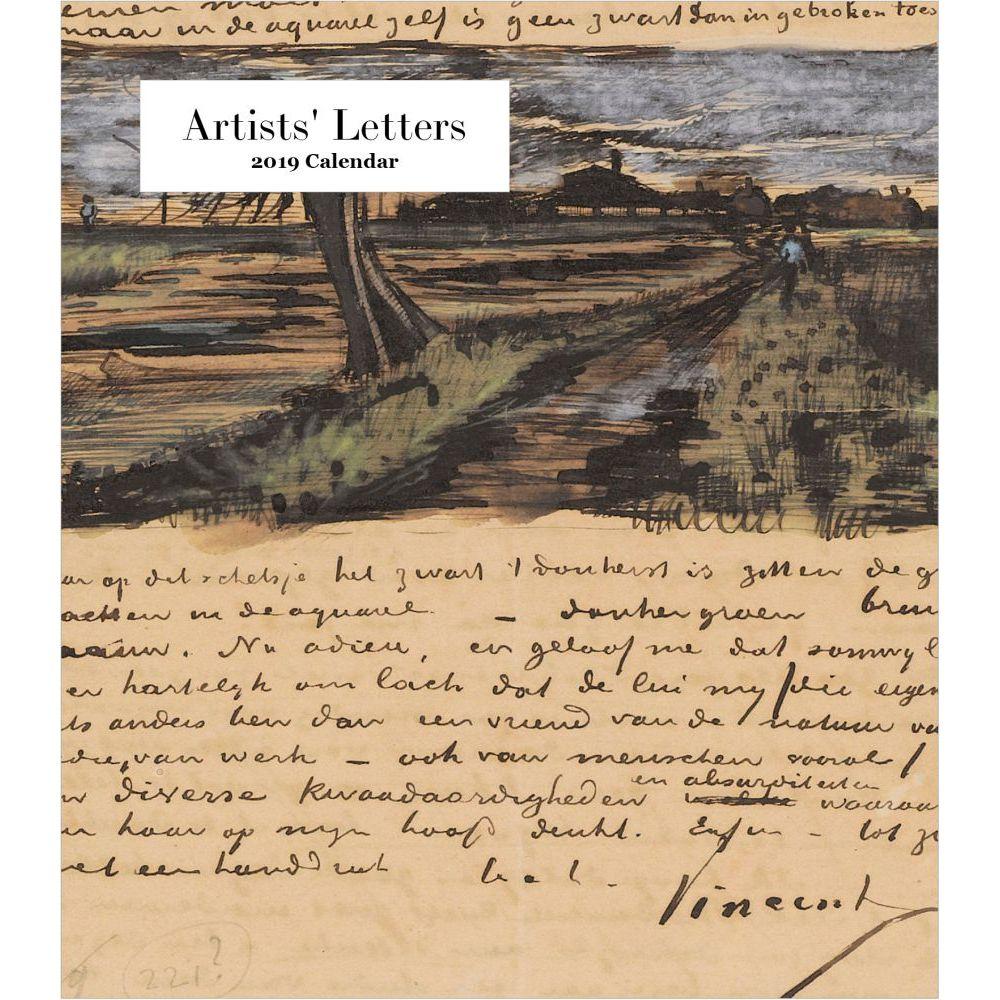 2019 Artists Letters 2019 Desk Calendar, Fine Art by Retrospect Group by Retrospect Group