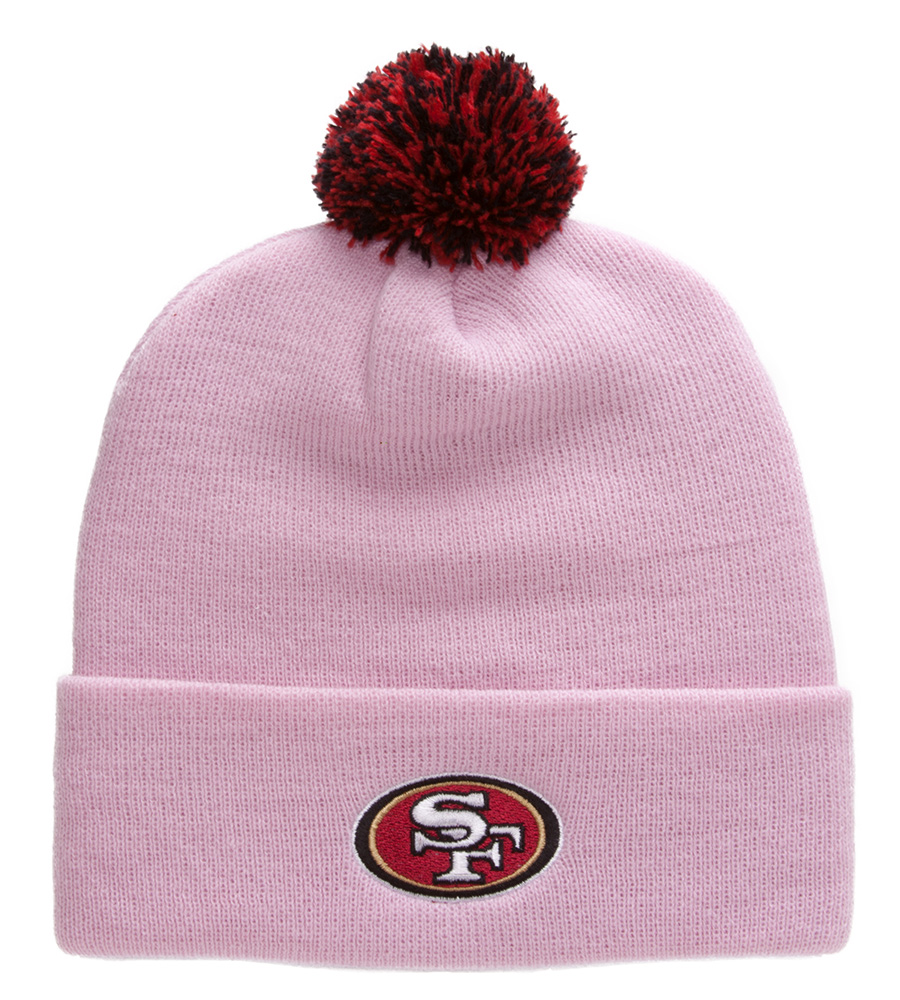 San Francisco 49ers Beanie with Pom - Pink