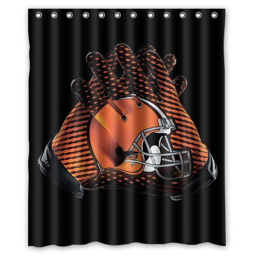 DEYOU Cleveland Browns Shower Curtain Polyester Fabric Bathroom Shower Curtain Size 60x72 inch