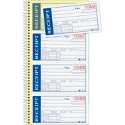 Adams Write 'n Stick Receipt Book, 2-Part, 5-1/4 x 11, 200 Sets