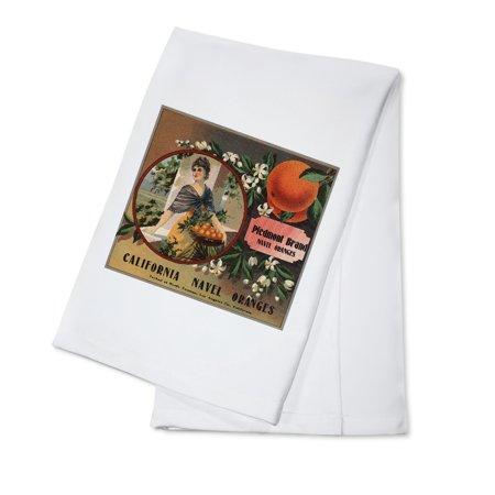 Piedmont Brand   Pomona  California   Citrus Crate Label  100  Cotton Kitchen Towel