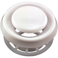 "Deflecto TFG4 Suspended Ceiling Diffuser 4"" White (No Studs Needed)"