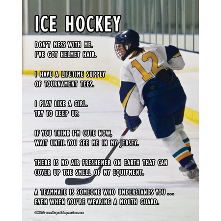 Unframed Ice Hockey Female Player on Ice 8