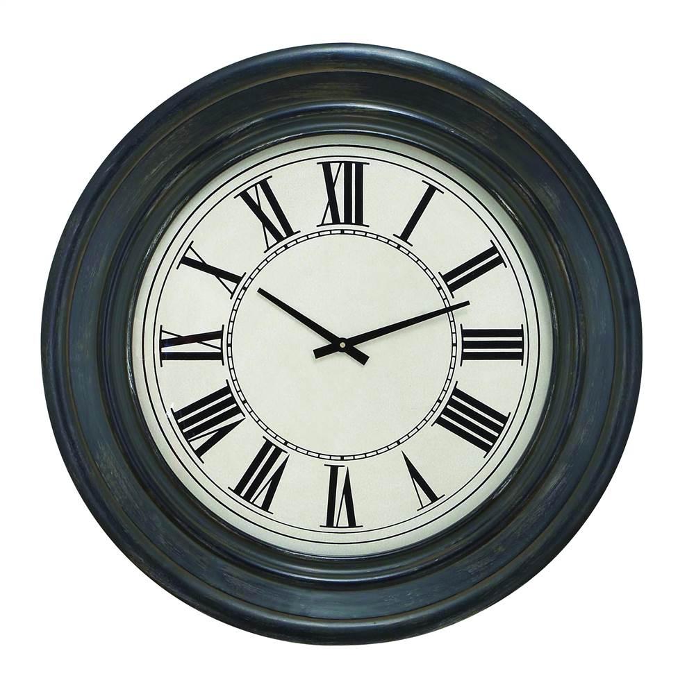 32 in. Dia. Wood Wall Clock