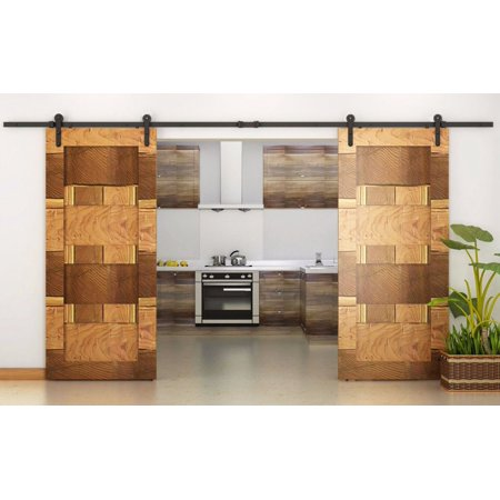 Tms 12ft Country Style Interior Double Sliding Barn Door Track
