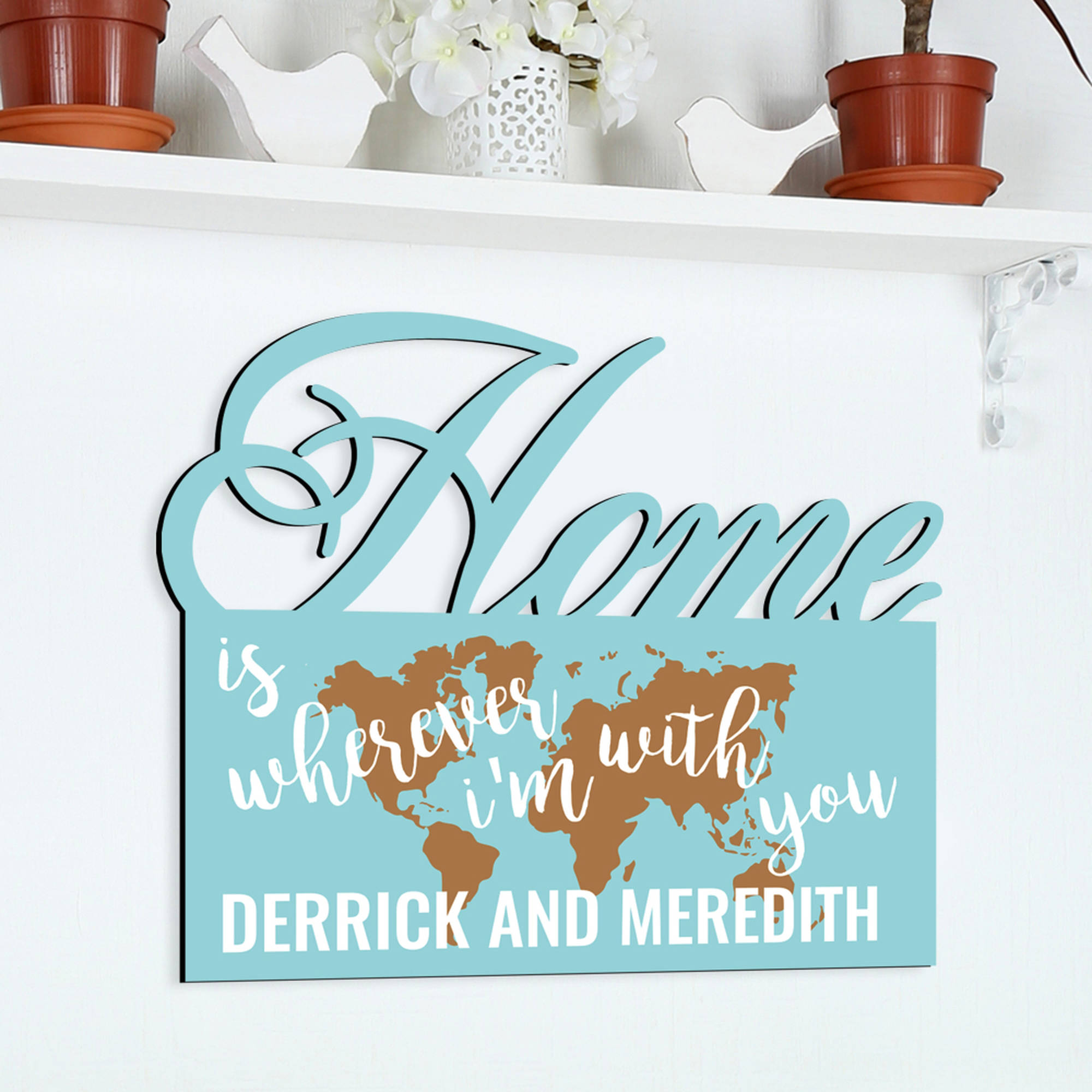 "Home With You Personalized Wall Sign, 13.75"" x 12.25"""
