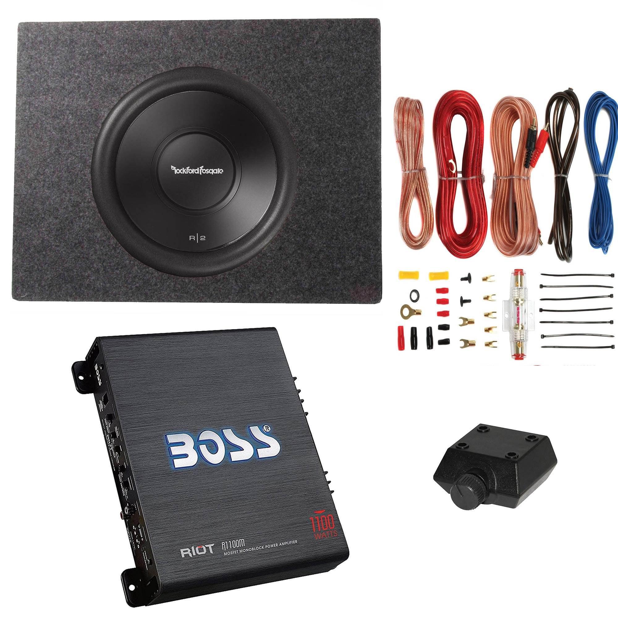 Rockford Fosgate 10 500w Complete Subwoofer Package With Amplifier Amp Kit Walmart Com Walmart Com