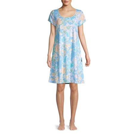 Floral Cotton Blend Sleepshirt