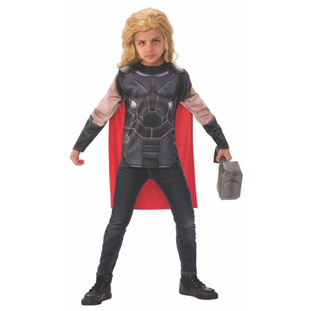Officially Licensed Marvel Ruler Strong Thor Child Set Boys Costume Halloween (Halloween Thorn)
