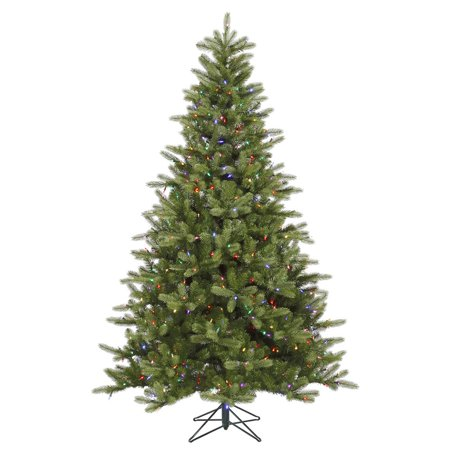 Vickerman Pre-Lit 6.5' King Spruce Artificial Christmas Tree, LED, Multicolor Lights