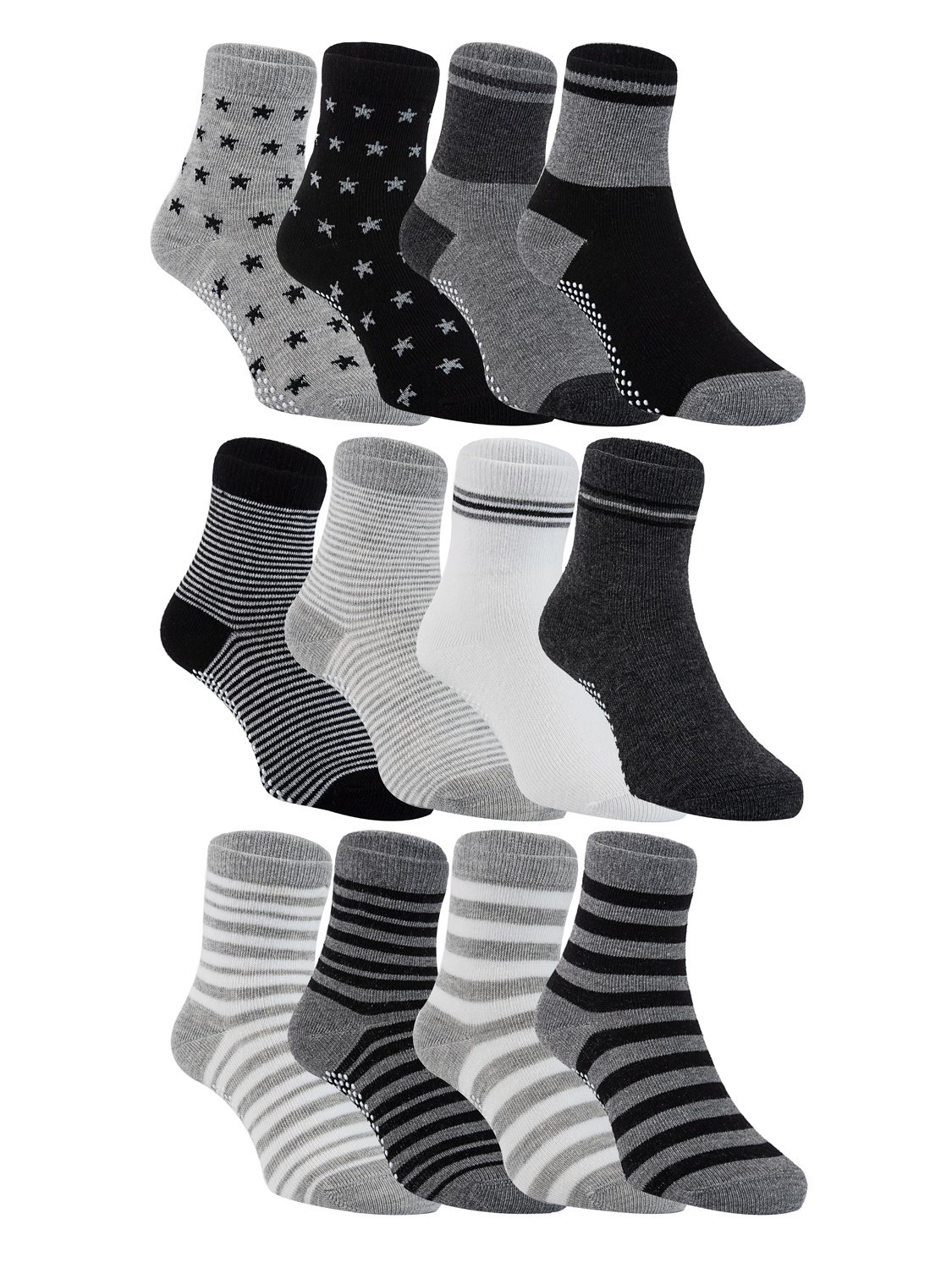 Lovely Annie Unisex Children 6 Pairs Pack Non-Skid Cotton Socks Random Color