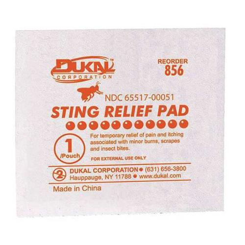 FIRST AID ONLY G326GR Bite and Sting Pads,White,50/Box G2276097
