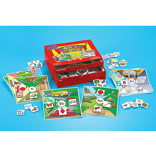 Lauri Toys Phonics Center Kit Beginning Sounds with 70 Picture Tiles and 13 Activity Mats