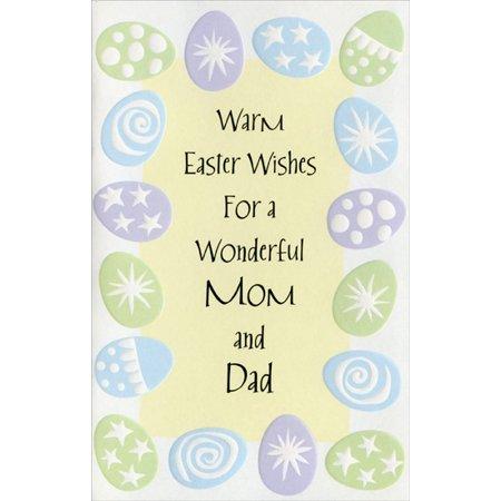 Embossed Pastel (Freedom Greetings Embossed Pastel Eggs Border: Mom & Dad Easter Card )