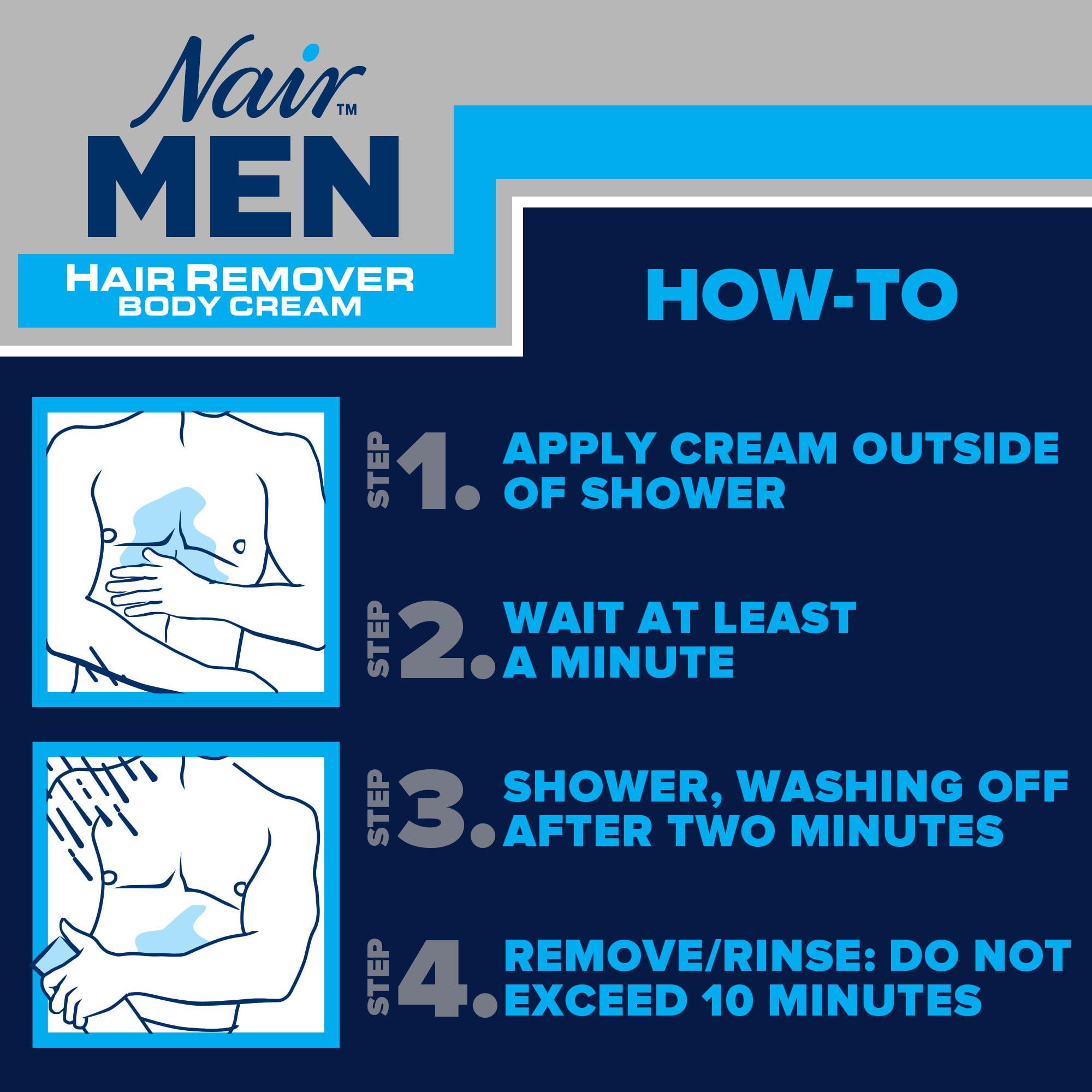 Nair Hair Remover For Men Hair Remover Body Cream 13 Oz